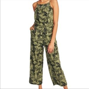 Old Navy green tropical palm jumpsuit